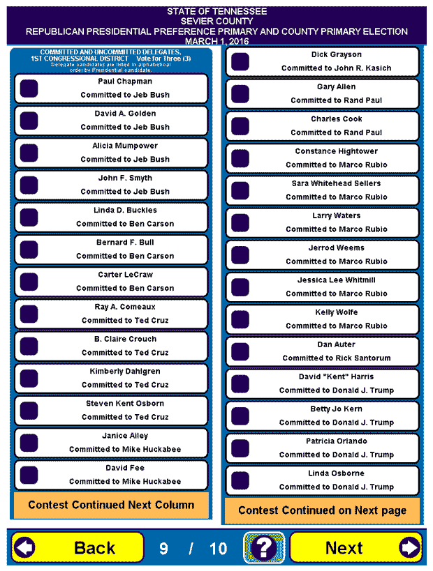 Early voting information and sample ballot for march 1 2016 election